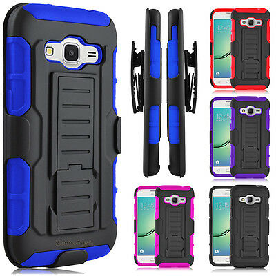 For Samsung Galaxy Core Prime/G360 Case Hybrid Clip Holster Hard Phone Cover