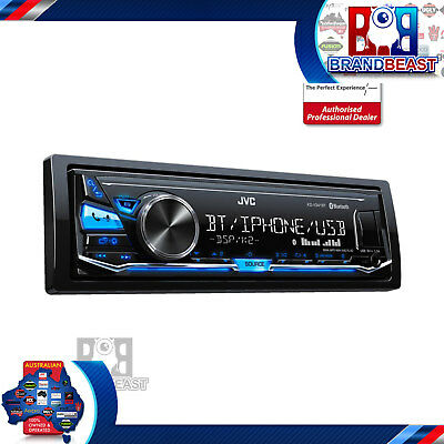 New Jvc Kd-x341bt Digital Media Receiver Aux Usb Bluetooth Car Stereo Flac No Cd
