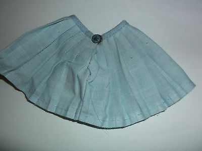 1950's DOLL CLOTHES blue pleated skirt tag for 8 inch Ginger