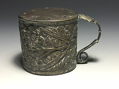 Very Unusual Antique Sterling Cup With Holes on Top