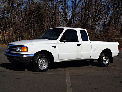 1996 Ford Ranger XLT SUPERCAB 5-SPEED PICKUP TRUCK NO RESERVE EXTENDED CAB HIGHWAY MILES CASSETTE PLAYER CLEAN RUNS DRIVES GREAT
