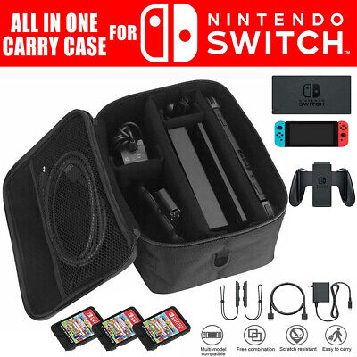For Nintendo Switch Console Accessory Storage Carrying Travel Case Bag Black