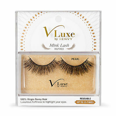 94577a7db86 V-Luxe By Kiss I Envy Virgin Remy Tapered End Mink Eyelashes - Vlef01 Pearl