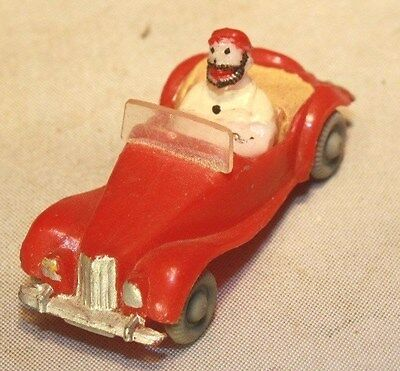 1953–1955 MG TF Midget HO Scale with Popeye Brutus Character Marx Toys Hong Kong