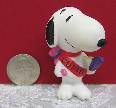 CUPID SNOOPY Collector Figure ~ VALENTINE ~ United Feature Syndicate ~ PEANUTS