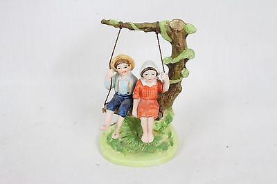 """Norman Rockwell Collectible Figurine """"Summer Fun"""" 1982 Vintage Antique Old Rare"""