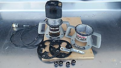 Porter Cable 75192 Production Router w/ (2) 75361 base & (4) Collet Assemblys