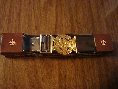 Boy Scout Official Leather Belt Size 30 - 1969 National Jamboree Idaho