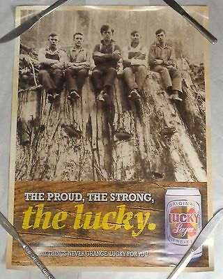 Lucky Lager Beer Poster The Proud The Strong The Lucky