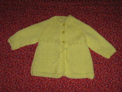 Gorgeous Little One's Hand Knitted Jacket, Size 0