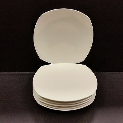 Gorham China Boulder Creek White Plates Appetizer/Bread/Salad/Dessert Set of 7
