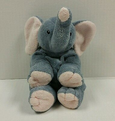 Ty Pluffies Winks Plush Elephant 2002 Gray Pink Tylux Baby Lovey Stuffed Toy