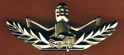 """Israel Border Police Outstanding Warrior Qualification """"gold"""" Badge"""