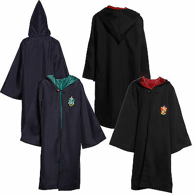 Costume Deguisement Robe Cape a Capuche Harry Potter Gryffindor Slytherin Enfant