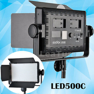 Godox LED500C LED Studio Video Light Photography Continuous Lighting + Remote US