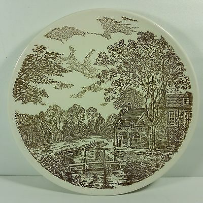 Taylor Smith Taylor Ironstone Transferware USA Yorkshire Vintage Dinner Plate
