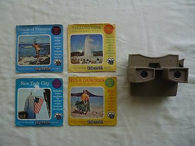 Sawyers View-Master Modei G 3-D Viewer made in the U.S.A with 4 View-Master sets