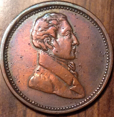 """1820-1830 Lower Canada Half Penny Token Commercial Change Br#1007 """"6+D"""" !"""