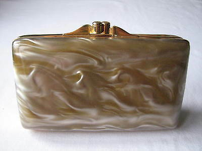 Vintage Small Lucite Compact Clutch Bag 1940s / 50s Fabulous