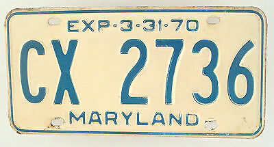 Maryland 1970 Vintage License Plate Garage Old Car Auto Tag Pub Decor CX