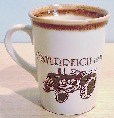 Vintage TRACTOR Pottery MUG made in England VGC OLD