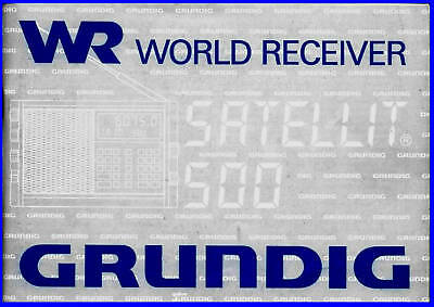 Grundig Satellit 500 Short Wave  User Manual Full