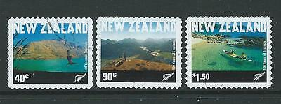 New Zealand 2001 Tourism Set Of 3 Coil Stamps Fine Used