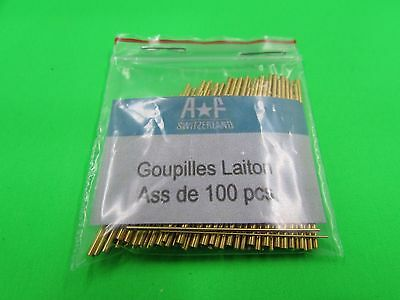 Assorted Pack Brass Tapered Bracelet Pins Various Diameters Pieces 100