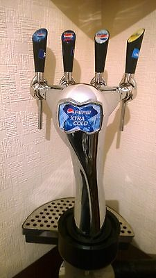 Britvic 4 Pump Soft Drinks Dispenser, Extra Cold, For The Man Cave