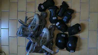 Lot de Roller taille 37 (Rollerblade) avec protections