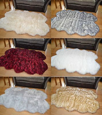New 120cm x 180cm Fake Quad Sheepskins Fluffy Faux Fur Soft Thick Rugs Rug Cheap