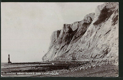 alte AK Beachy Head Cliffs and Lighthouse 1906