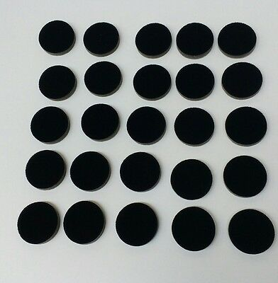 44mm diameter flocked foam. 8mm thick x 50 pieces