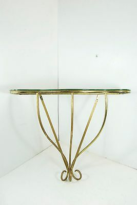 50s Mid-Century Brass Wall CONSOLE Table Consolle Italian 50's Buffa style