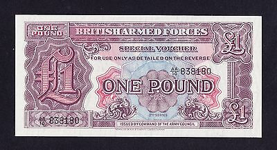 2nd  SERIES BRITISH ARMED FORCES ONE POUND BANKNOTE