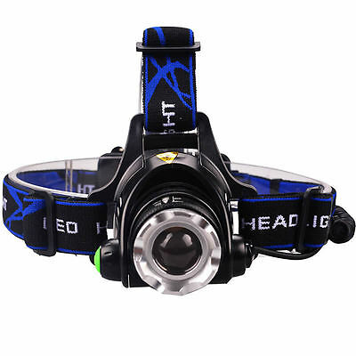 5000LM XM-L T6 LED Headlamp Head Light Torch Zoomable Waterpoof Headlight Lamp