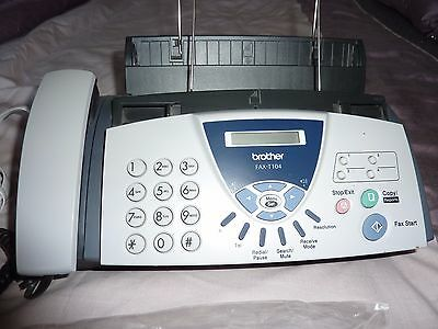 Brother T104 Plain Paper Phone & Fax Machine
