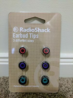 RadioShack AUVIO Earbud Silicone Replacement Tips 3 Sizes S/M/L 3301585