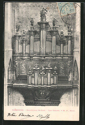 tolle AK Narbonne, Cathedrale St-Just, Les Orgues, Orgel 1905