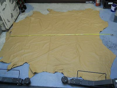 FULL TAN LEATHER HIDE - OVER 4sq METRES