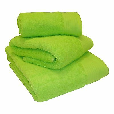 Lime Green 100% Egyptian Cotton 600gsm Heavyweight Bath Towels &/Or Mats Luxury