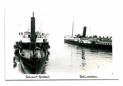 "Paddle Steamers ""balmoral"" / ""princess Beatrice"" Etc - Lot Of Five Photos"