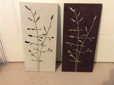 Canvas Wall Art Pictures Set Of 2, Sold With No Reserve Collection Only