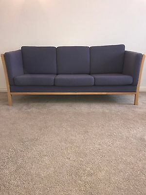 Danish vintage Stouby style 3 seater sofa