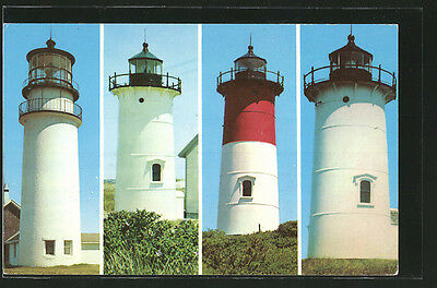 AK Cape Cod Lighthouses, Highland Light, Pace Point Light, Nauset Light an Nobs