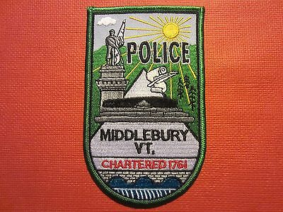 Collectible Vermont Police Patch Middlebury New