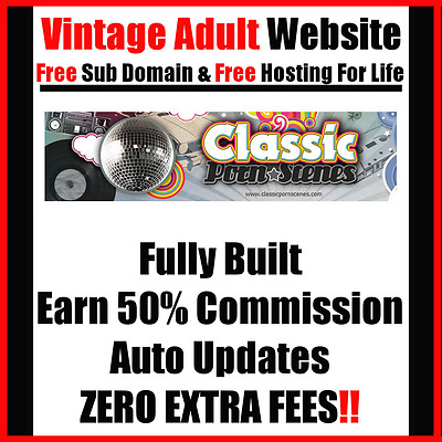 Adult Website - Classic Theme - No Extra Fees - For Sale - Home Online Business