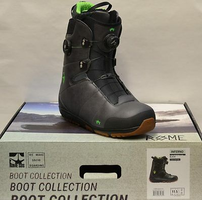 '16 / '17 Rome Inferno Boa Size 11.5 Men's Snowboard Boots - Black *NEW*