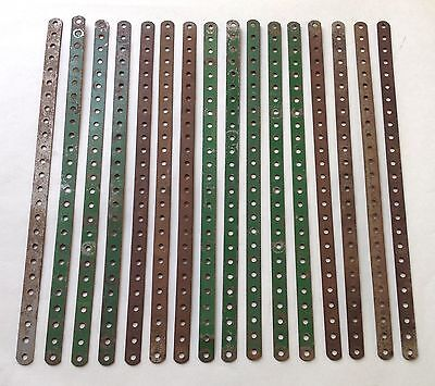 """MECCANO - X16 pieces, 12.5"""" PERFORATED STRIPS (Part No.1)"""