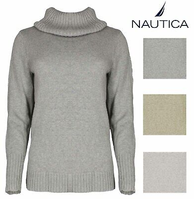 KNIT COWL NECK SWEATER VARIETY NEW WOMENS NAUTICA CHUNKY TURTLENECK SWEATER